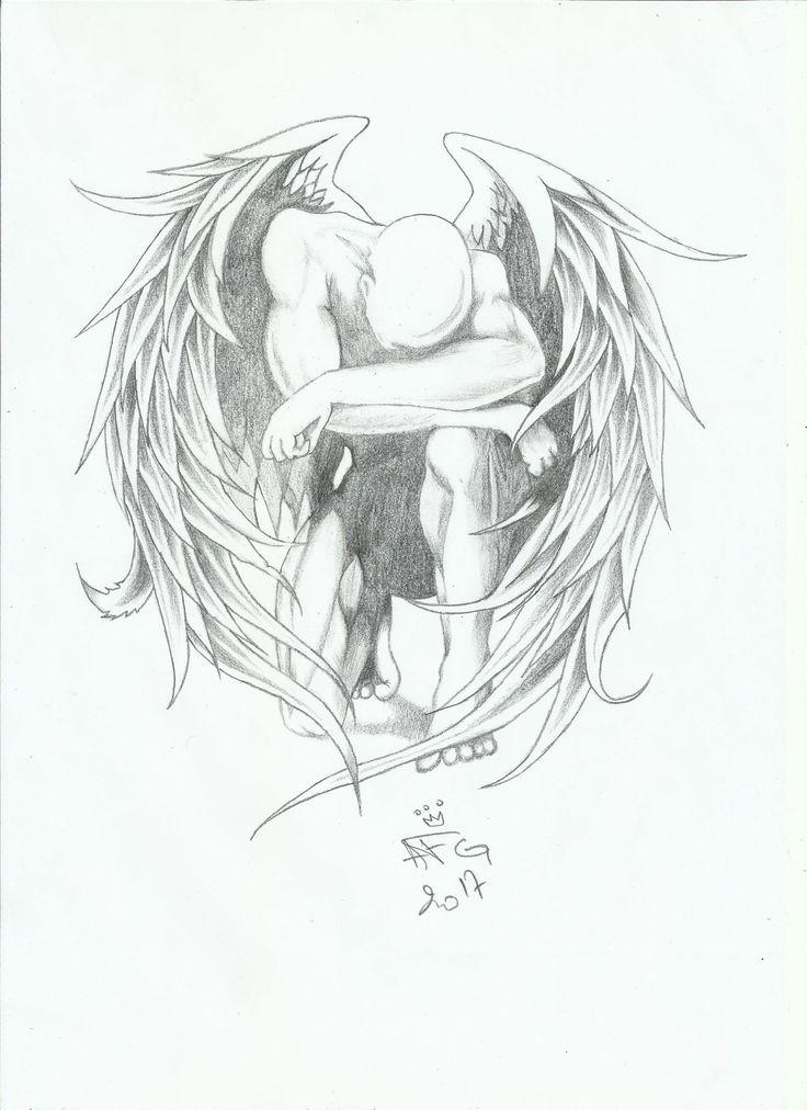 Sad Angel Afg Drawing Sketches Drawings Sad