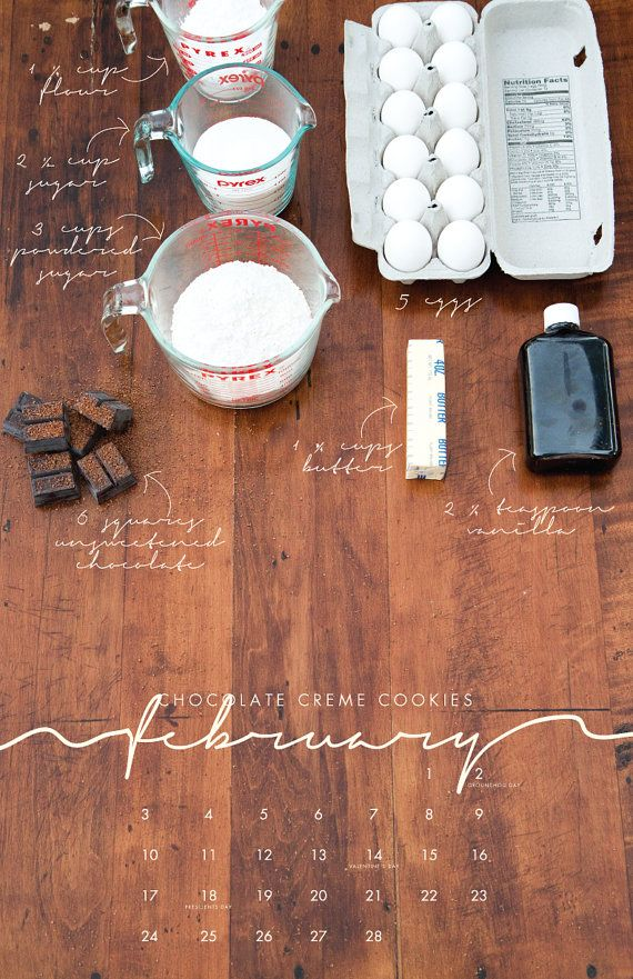 2013 Recipe Wall Calendar Local/Seasonal por lizcarverdesign