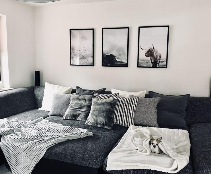 Más de 25 ideas increíbles sobre Wohnzimmer schwarz weiss en Pinterest