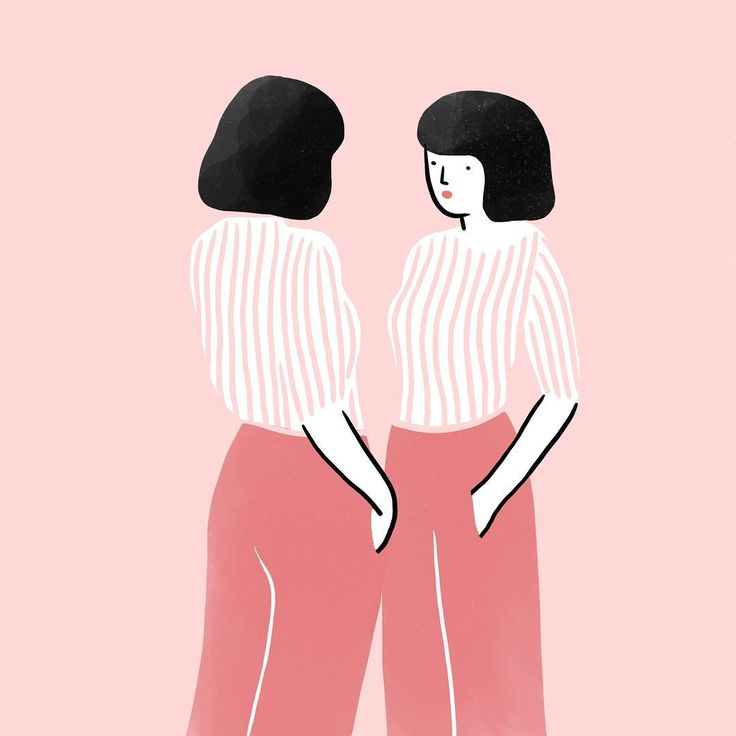 "1,166 mentions J'aime, 7 commentaires - Agathe Sorlet (@agathesorlet) sur Instagram : ""Reflection . . . #reflection #pink #girl #miror #instaart #illustration #agathesorlet…"""