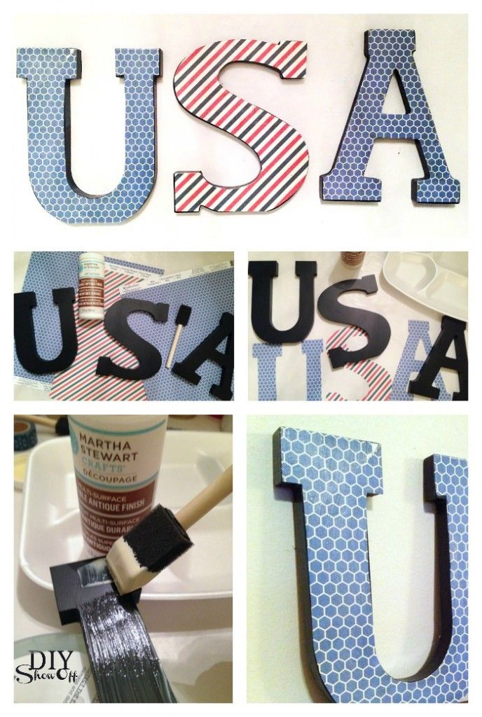 Create white and blue decorative accents to decorate your home or party for Memorial Day or 4th of July celebrations @diyshowoff Celebrations Challenge #MichaelsMakers