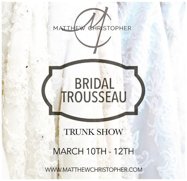 Matthew Christopher is returning to @bridaltrousseauct  this weekend for a 2017 Breathless collection trunk show so if you missed our Best Of you can still get a taste of what's new! Make your appointments at the link below or call (203) 745-4649 to secure your date with MC!  Appointments: http://ift.tt/2mOrMU2  #matthewchristopher #matthewbridal #mc #couture #weddinggown #bridetobe #bride #bridal #bridaltrousseau #newhavenbrides #ctbrides #engaged #weddinginspiration #weddingideas…