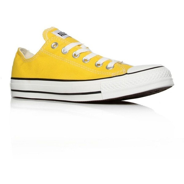 Yellow Chuck Taylor Lo Sea Fashion Trainers ($65) ❤ liked on Polyvore