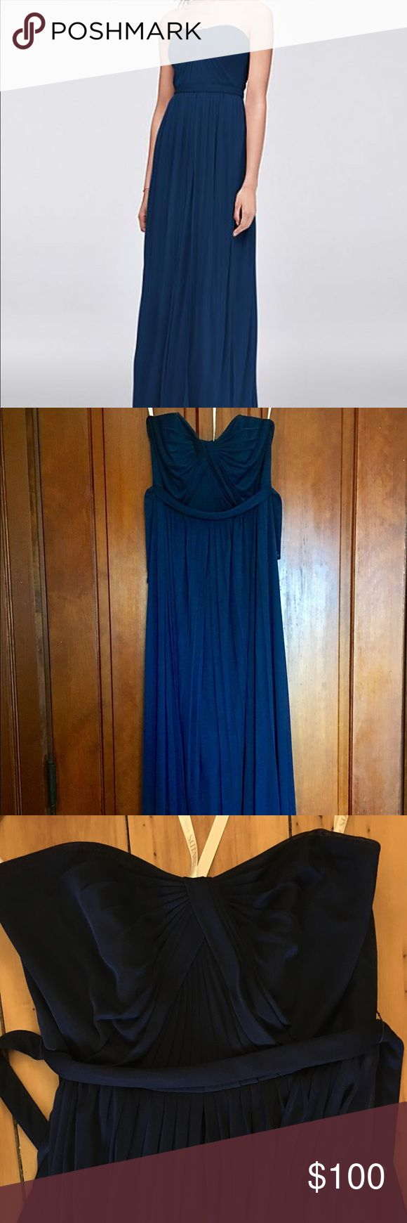 The 25 best davids bridal versa dress ideas on pinterest davids davids bridal versa convertible bridesmaid dress marine color long bridesmaids dress that can be worn so many different ways ombrellifo Images