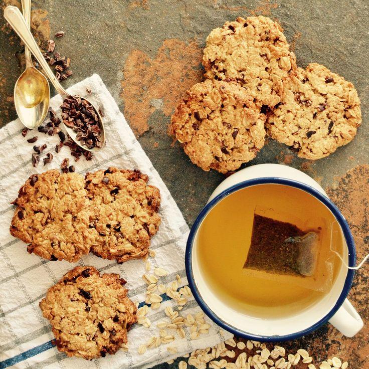 Havrecookies! Veganska, glutenfria och sockerfria. Receptet finns i meny 15. 😊  www.allaater.se