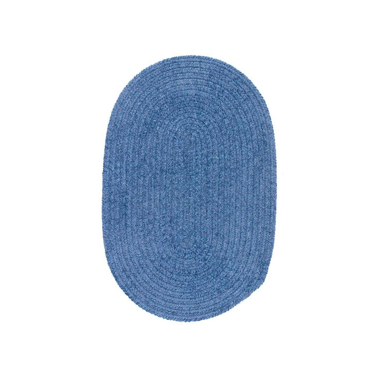 Colonial Mills Easy Living Oval Rug - 8 x 10, Blue
