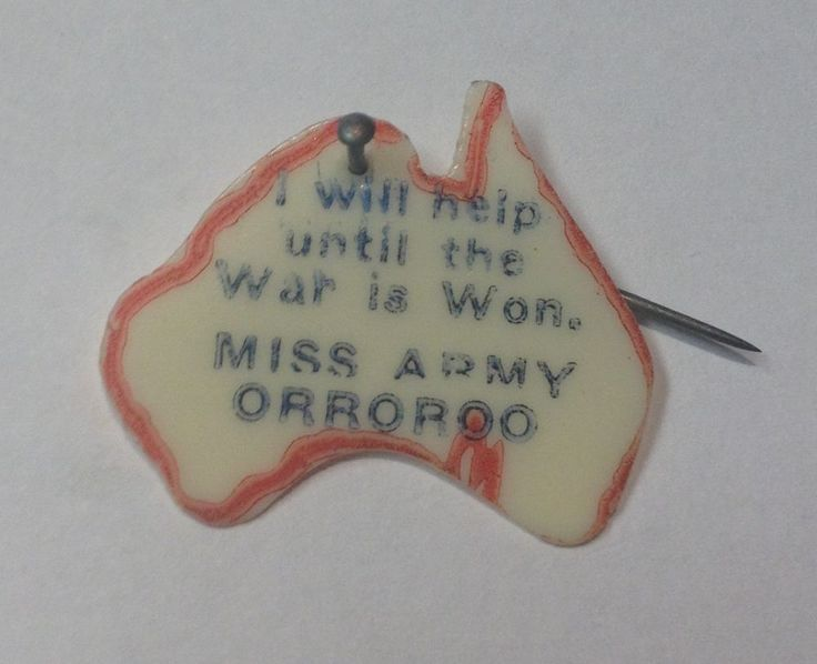 WW2 Miss Army - Orroroo- Celluloid badge