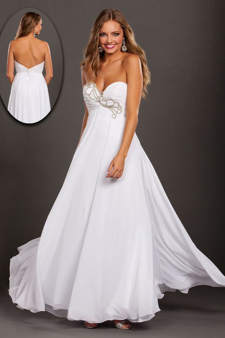 2015 Sweetheart A Line Prom Dresses Chiffon Floor Length With Beads