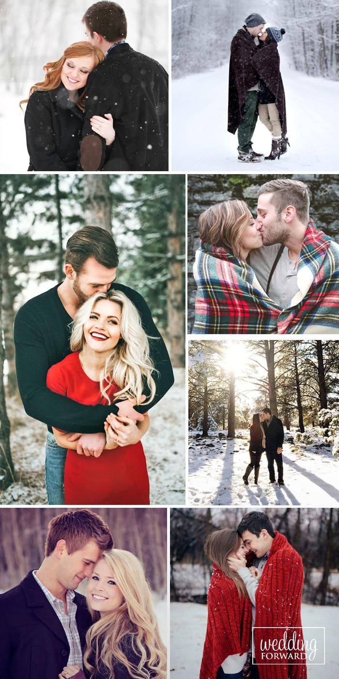24 Winter Engagement Photos To Warm Your Heart ❤ For romantic winter engagement photos you can wrap yourself in a beautiful soft blanket. For fun photos choose different winter games, as sled or skates. See more: http://www.weddingforward.com/winter-engagement-photos/ #wedding #engagement #photos