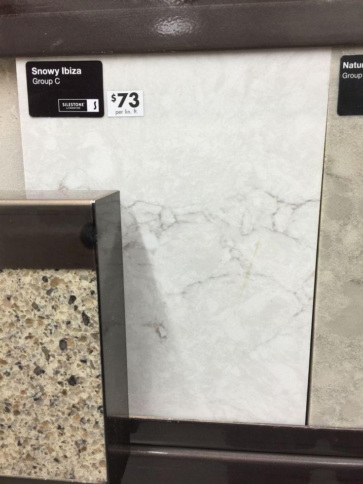 Silestone Snowy Ibiza Quartz Home Depot Countertops New