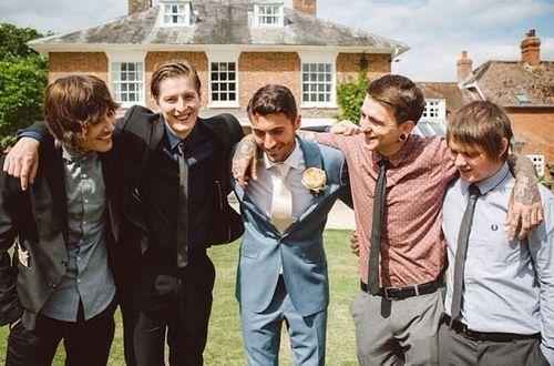 The Lads - Oliver Sykes, Matthew Kean, Jordan Fish, Matthew Nicholls and Lee Malia - The Fish Wedding