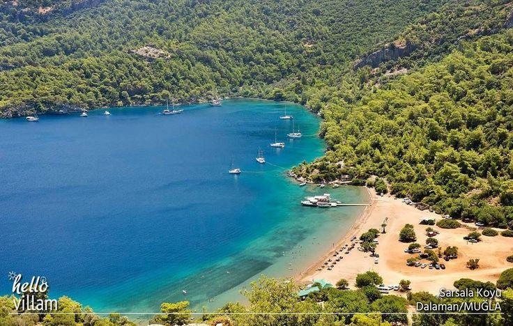 🌊❤  Masmavi denizinde balıklarla yüzebileceğiniz, bakir bir koy. 🌊❤  #koy #bay #plaj #beach #doğa #nature #landscape #manzara #forest #mavi #yeşil #picoftheday #photooftheday #sarsala #sarsalakoyu #dalaman #muğla #turkey