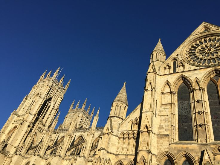 York Minster always has to be shot against a blue sky