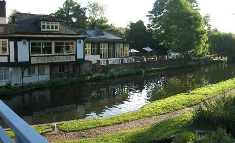 Hemel Hempstead, England - this restaurant was right next to our apartment complex. Loved our flat overlooking the canal!