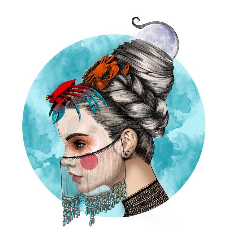 Mustafa Soydan's Zodiac Illustration series Exclu for Trendland