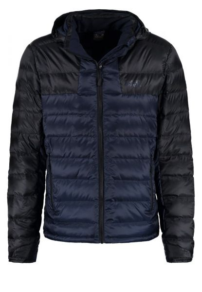 Box Quilt Fuji Hooded, Veste de Sport Homme, Noir, LargeSuperdry
