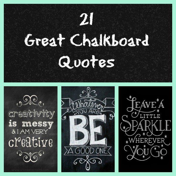 Chalkboard Quotes - Chalkboards are such a fun way to decorate, plus you can infuse a little inspiration in everyone who reads