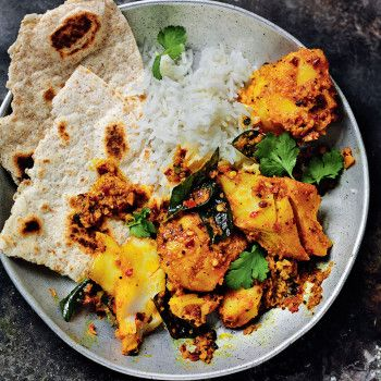Add a exotic twist to cod with this fragrant Indian recipe from Rick Stein's India.