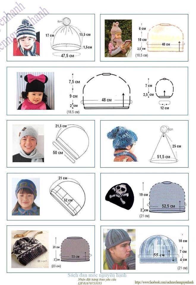 Misure cappellini bambino