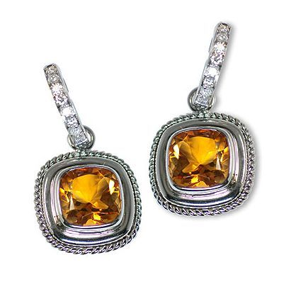 And here is one additional magnificent colorful gemstone earrings - Parris Jewelers #gemstoneearrings