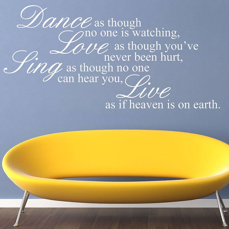 Dance Love Sing Live Wall Stickers
