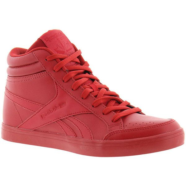 Reebok Royal Aspire 2 Women's Red Sneaker (47 CAD) ❤ liked on Polyvore featuring shoes, sneakers, red, suede sneakers, red shoes, red trainers, reebok footwear and red sneakers