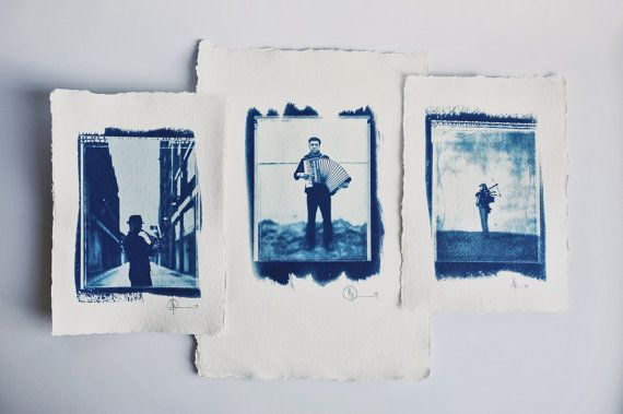 Set of 3 #cyanotype prints from my portfolio by vlad