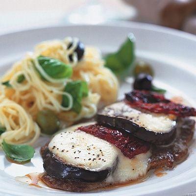 Lövbiff med mozzarella och pasta | Coop