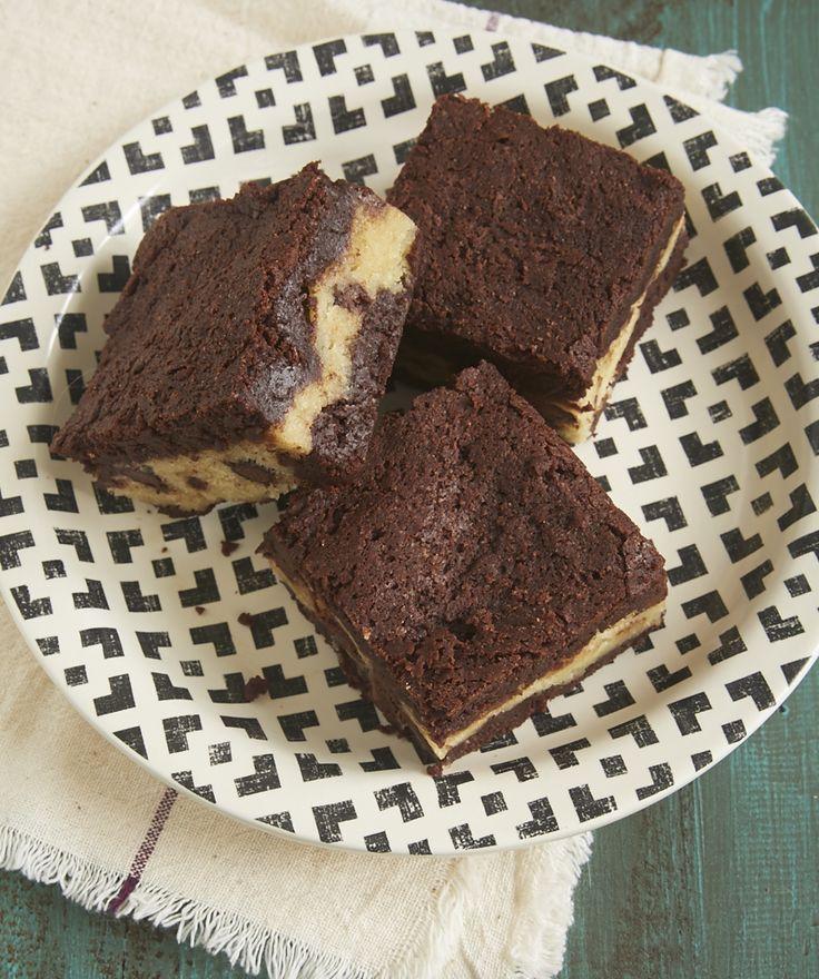 You don't have to choose between brownies and chocolate chip cookies with Chocolate Chip Cookie Stuffed Brownies! - Bake or Break