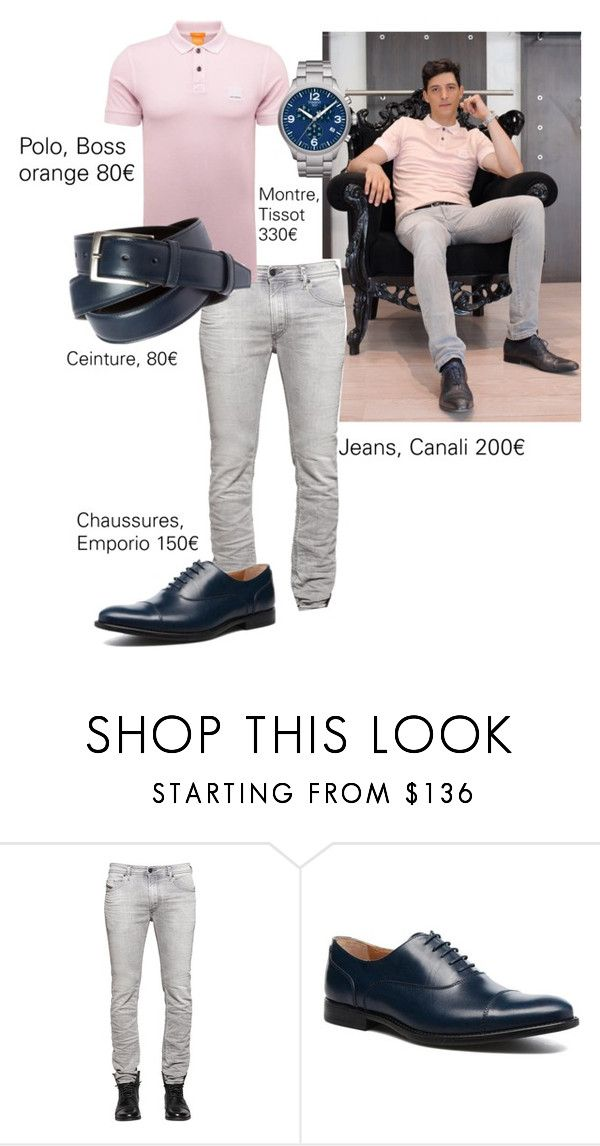 """men's fashion"" by caroline-rnlt ❤ liked on Polyvore featuring Diesel, Tissot, men's fashion and menswear"