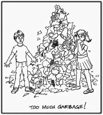 Printable Recycling Coloring Pages For Kids