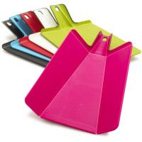 Cool chopping board. Lays flat and then folds when you have to add to pan
