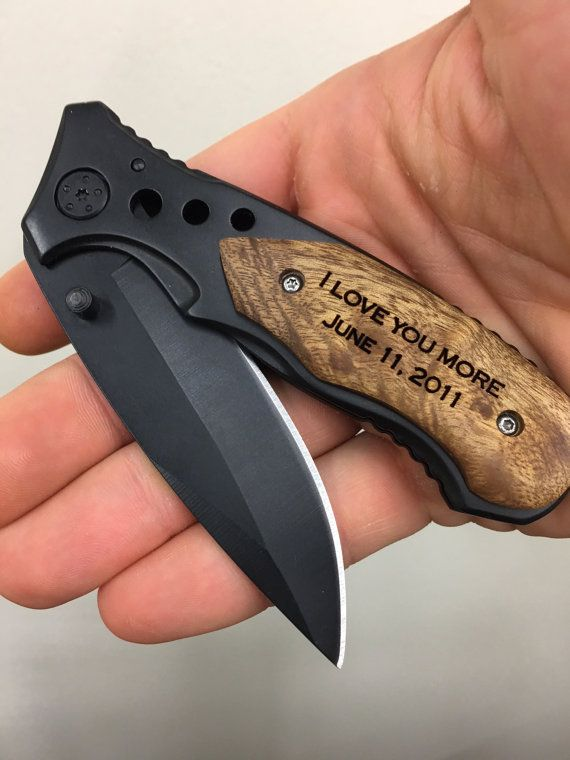 I love you more engraved pocket knife gift by EverythingDecorated