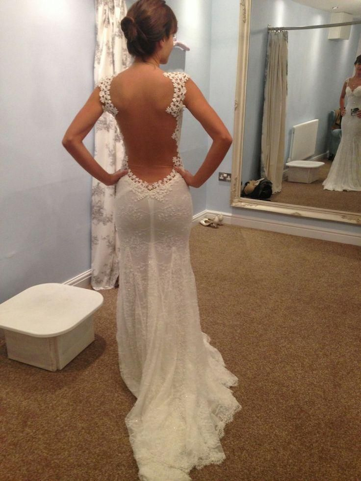 Galia Lahav Backless Lace Beach Wedding Dresses 2015 Vintage Sweetheart Ivory Tulle Mermaid Brdal Gowns Cap Sleeve with Court Train Online with $151.84/Piece on Flodo's Store | #DhgatePin