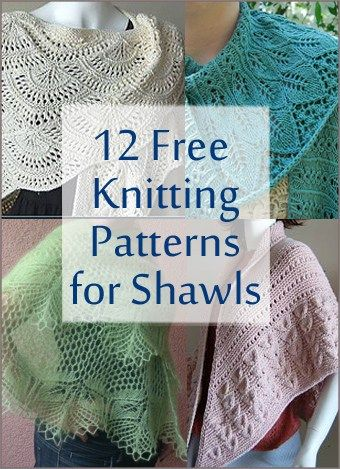 Free knitting patterns for a variety of shawls from the delicate and lacy to the cozy and warm. Dress up an outfit or get cozy without seams or fit.