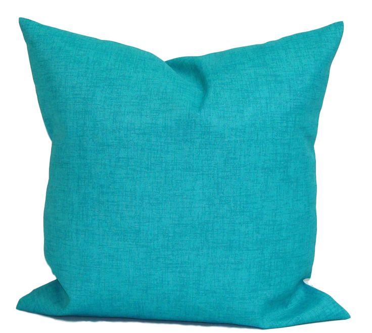 BLUE OUTDOOR PILLOWS, Solid Blue Pillow Cover, Decorative Pillow, Navy  Pillow, Aqua