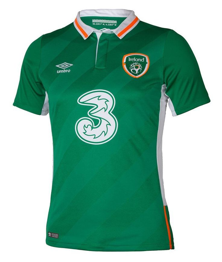 Ireland Euro 2016 Home Men Soccer Jersey Personalized Name and Number