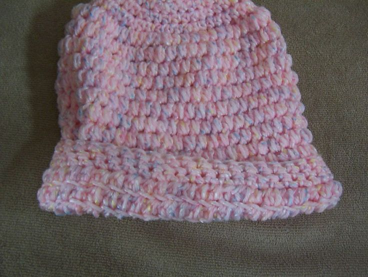 Hand Crocheted Pink Ombre Girls Hat #Handmade