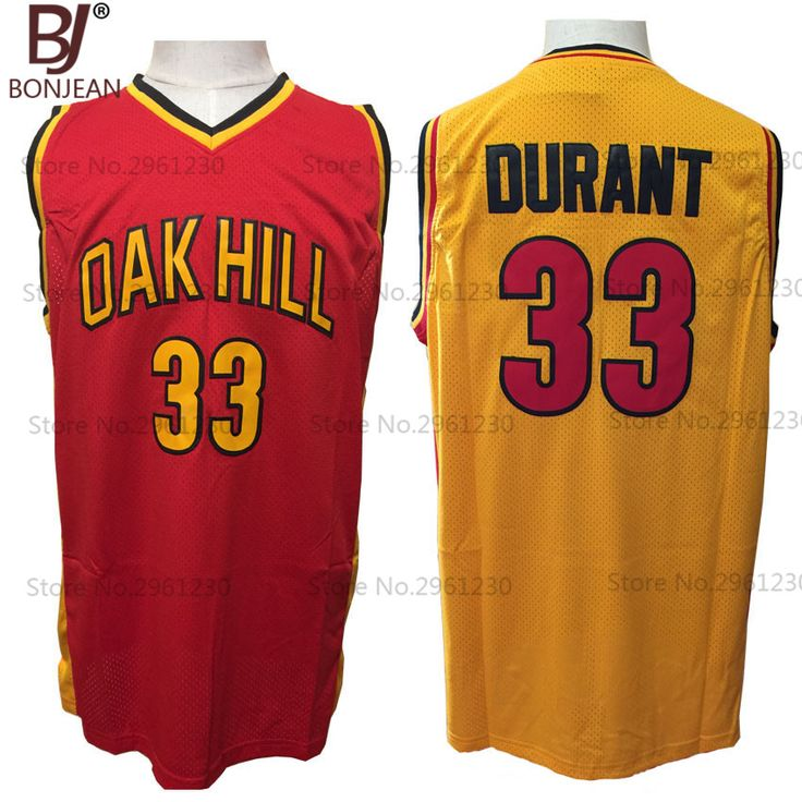 c0f51b47538 ... carmelo anthony vintage michael bonjean cheap kevin durant jersey 33 oak  hill high school basketball