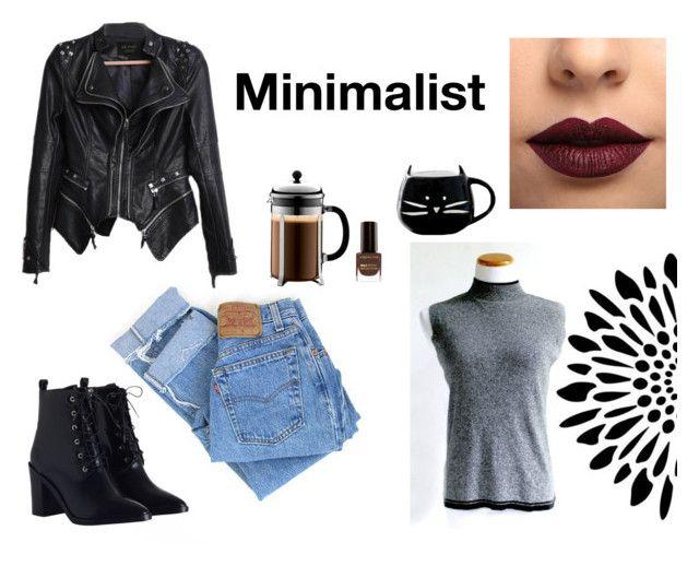 """Minimalist"" by ohhelloretro ❤ liked on Polyvore featuring Levi's, Zimmermann, LASplash, Bodum, Max Factor and vintage"