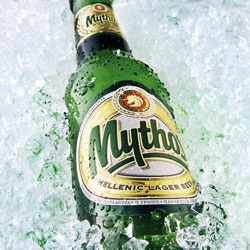 An Ice Cold Mythos Beer, exactly what's needed on a hot day.