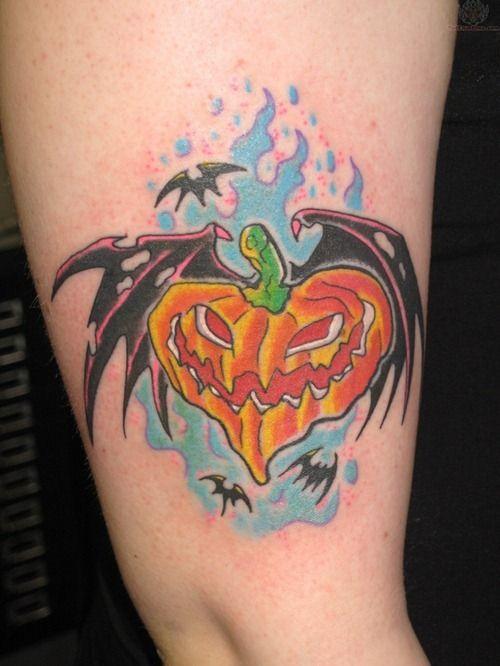Cute Halloween Tattoo Design for Girls