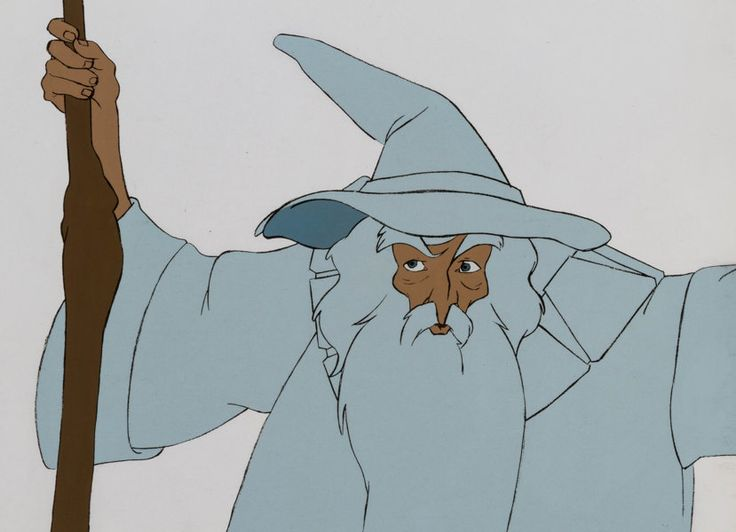 Animation Art:Production Cel, The Lord of the Rings Gandalf Production Cel (Ralph Bakshi,1978). ...