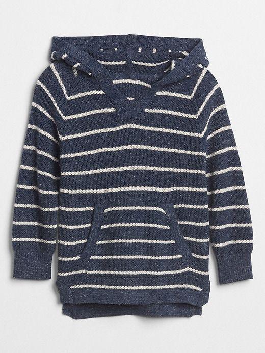 Gap Baby Waffle Knit Hoodie Sweater True Indigo | Products