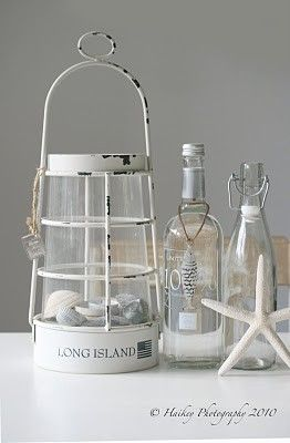 beach lamp and glass