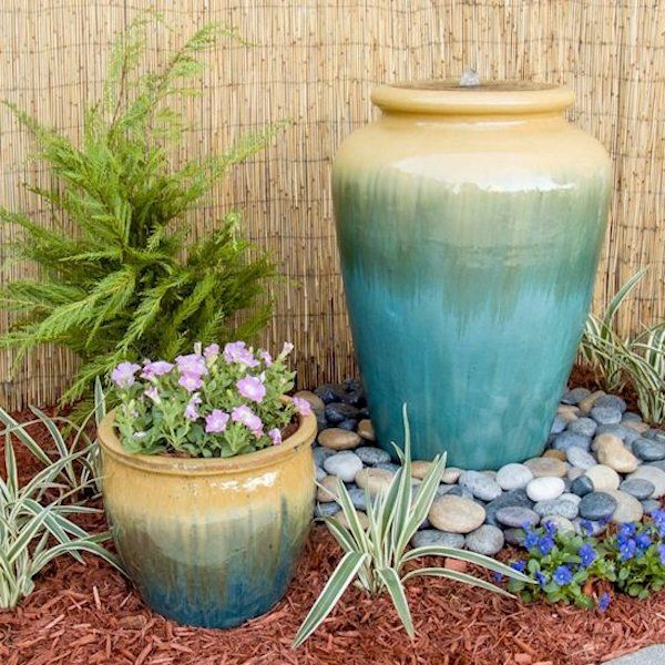 New Serenity Ceramic Outdoor Fountains With 5 Exciting Color Choices