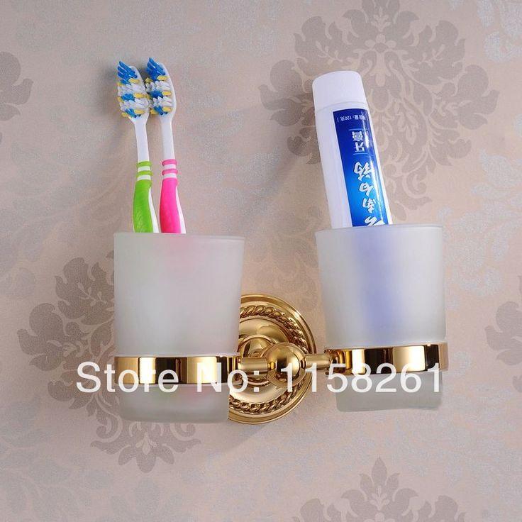 Für Bad: Material:messing Namen: tumbler& becherhalter Finish: goldenen FinishingLuxus im europäischen stil goldenenKupfer zahnbürste tumber& getränkehalter mit 2 Tassen Wand-Bad Produkt hj-13 Gefunden bei http://de.aliexpress.com/item/Free-shipping-luxury-European-style-Golden-copper-toothbrush-tumber-cup-holder-with-2cups-wall-mounted-bath/1789692074.html