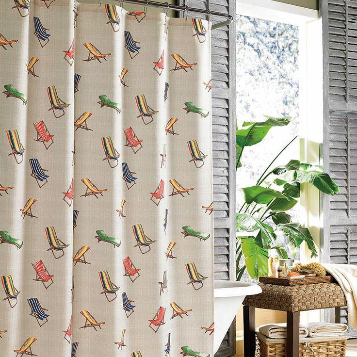 Tommy Bahama Beach Chairs Shower Curtain