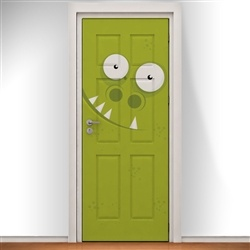 Green Monster Face Doodle Door Design. Bring Any Room To Life With A  Personalised Printed