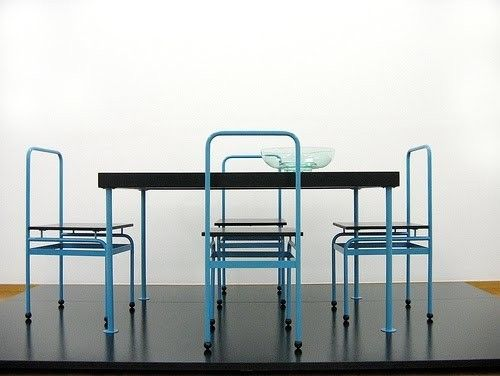 Table and Chairs by J.J.P. Oud, 1927